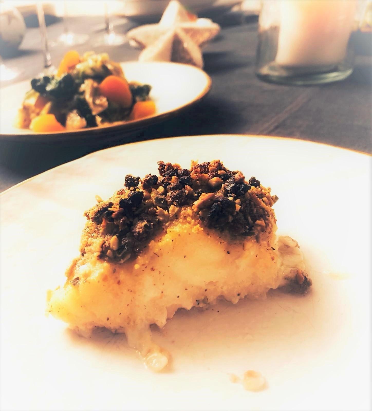 Trancio di baccalà in crosta: ricette ipoglicemiche