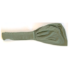 turbante tinta unita verde militare